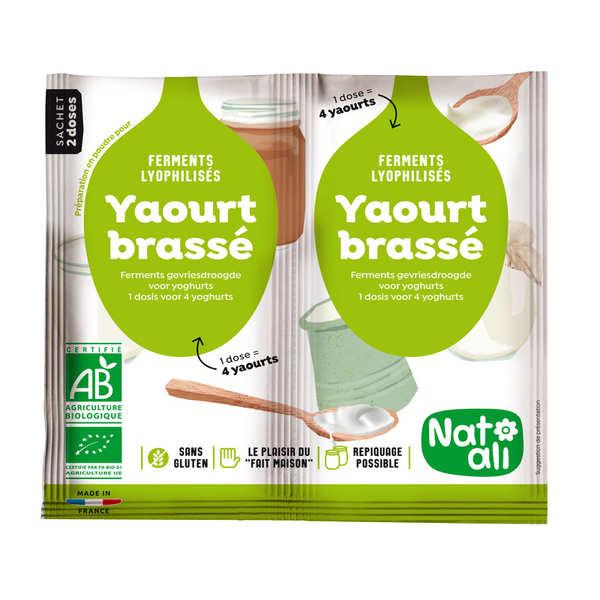 Ferments lyophilisés bio pour yaourt