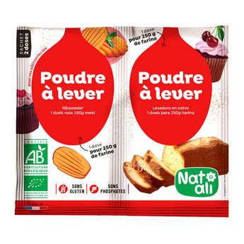 Nat-Ali - Poudre à lever sans gluten et sans phosphate bio (alternative à la levure)