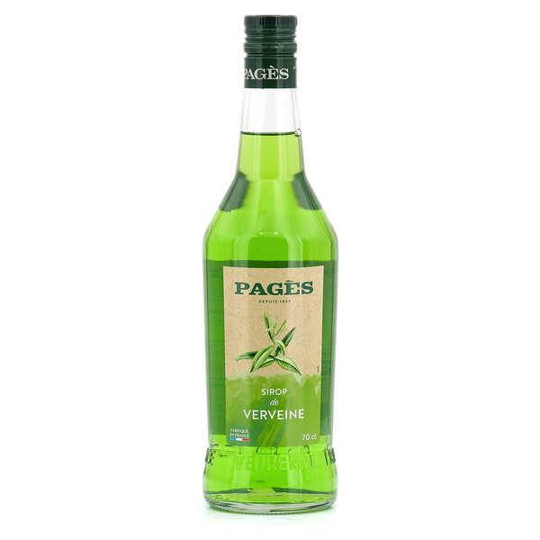 sirop de verveine pag s sans alcool distillerie pag s