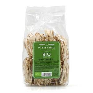 Pâtes Fabre - Tagliatelles bio au blé dur semi-complet