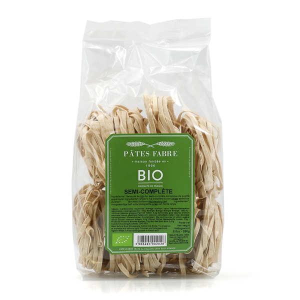 Organic half-husked wheat pasta