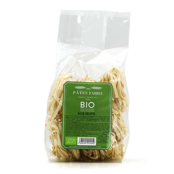 Organic pasta with eggs