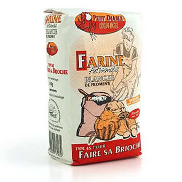 Farine blanche de froment T45 pour brioche