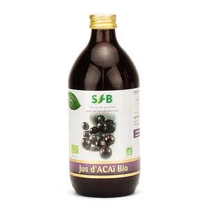 - Organic Acai juice bottle