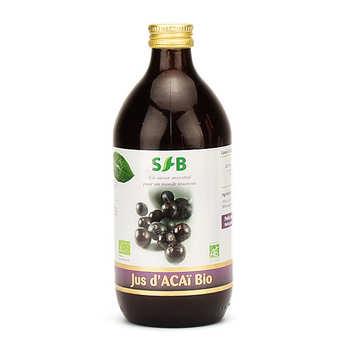 Laboratoire SFB - Pur jus d'açaï bio en bouteille