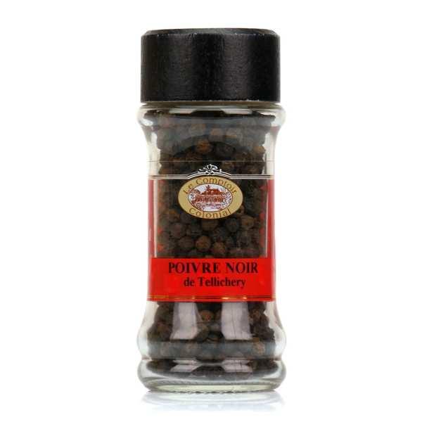 Poivre noir de tellicherry - inde - pot 50 g