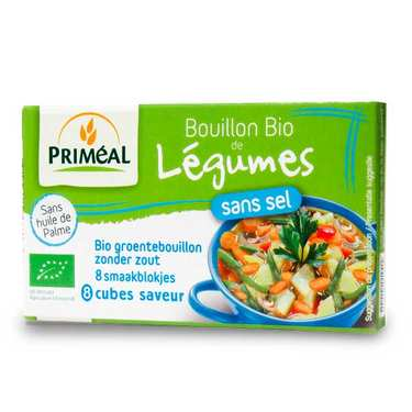 Organic broth cubes without salt