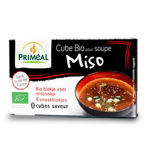 Soupe miso bio instantanée en cubes
