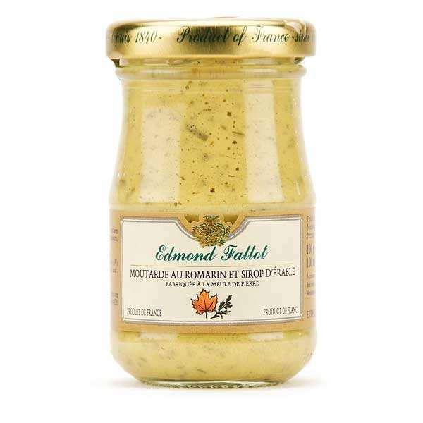 Moutarde de Dijon au romarin et sirop d'érable