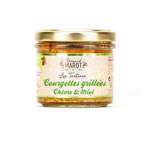Bernard Marot - Grilled zucchini spread with goat cheese & honey