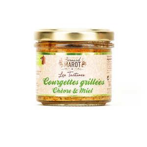 Bernard Marot - Courgettes grillées au chèvre & miel à tartiner