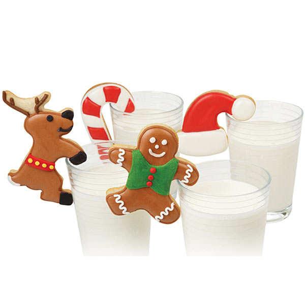 """Assortiment d'emporte-pièces pour boisson """"Noël"""""""