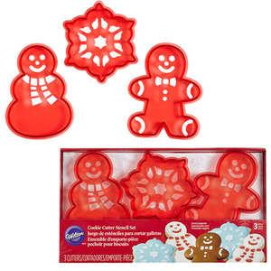 Wilton - Christmas Stencil Cookie Cutter Set
