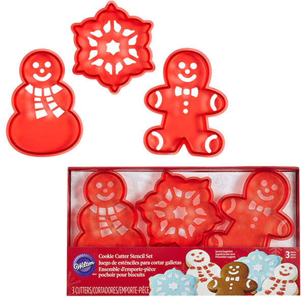 Christmas Stencil Cookie Cutter Set