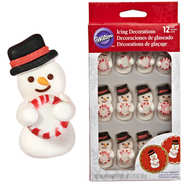 Wilton - Snowman Mint Royal Icing Decoration