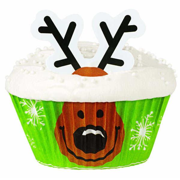 """Kit de décoration de cupcakes """"Renne"""""""