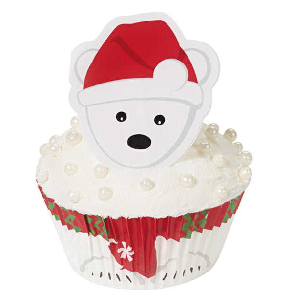 """Kit de décoration de cupcakes """"Ours Polaire"""""""