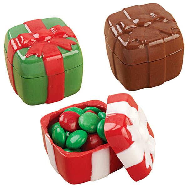 """Moule à bonbons 3D forme """"Cadeau"""""""