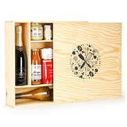 Les Ateliers de la Colagne - Large square wooden box with sliding lid