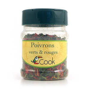 Cook - Herbier de France - Poivrons verts et rouges bio