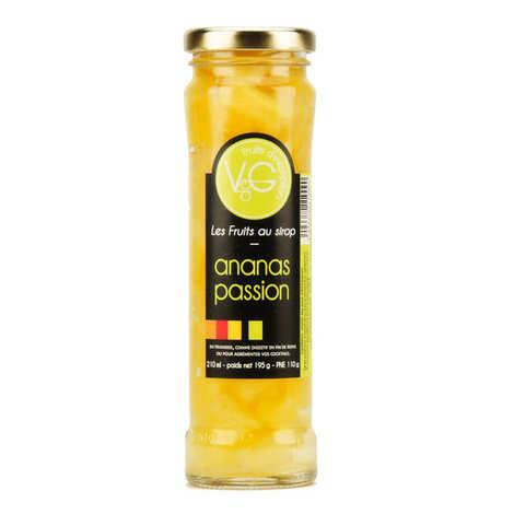 Vergers de Gascogne - Ananas au sirop passion