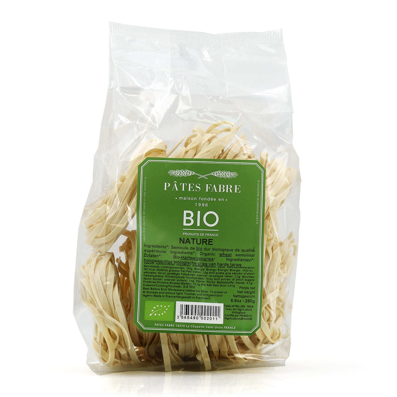 Plain organic pasta