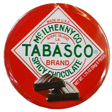 Tabasco Chocolate Spicy Dark Chocolate Wedges