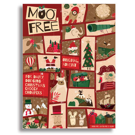 Moo Free - Organic Milk Chocolate Advent Calendar dairy free