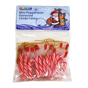 Sweet Occasions - 10 mini cannes de sucre d'orge à suspendre