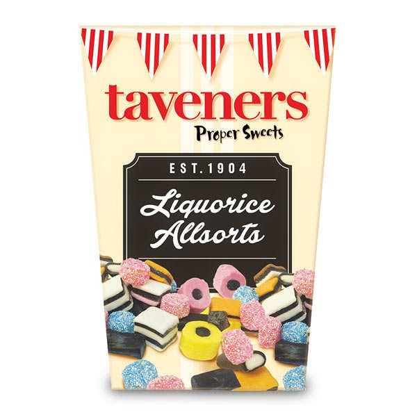 Bonbons anglais assortis à la réglisse Taveners