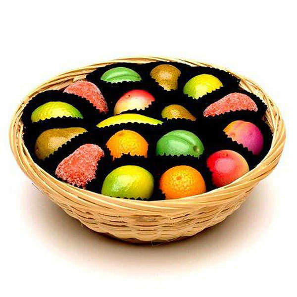 Shepcote Marzipan Fruits, Basket