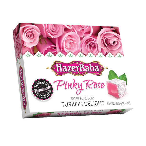 Turkish delight with rose hazer baba loukoums for Divan rose turkish delight