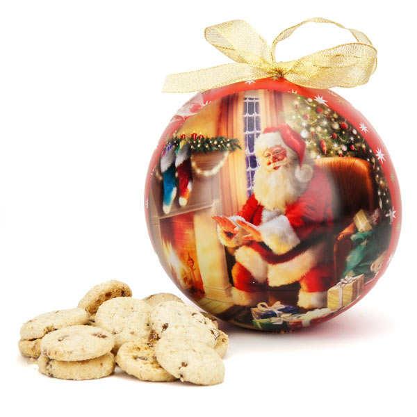 Boule de no l g ante en m tal peint garnie de cookies au - Boule de noel geante decoration ...