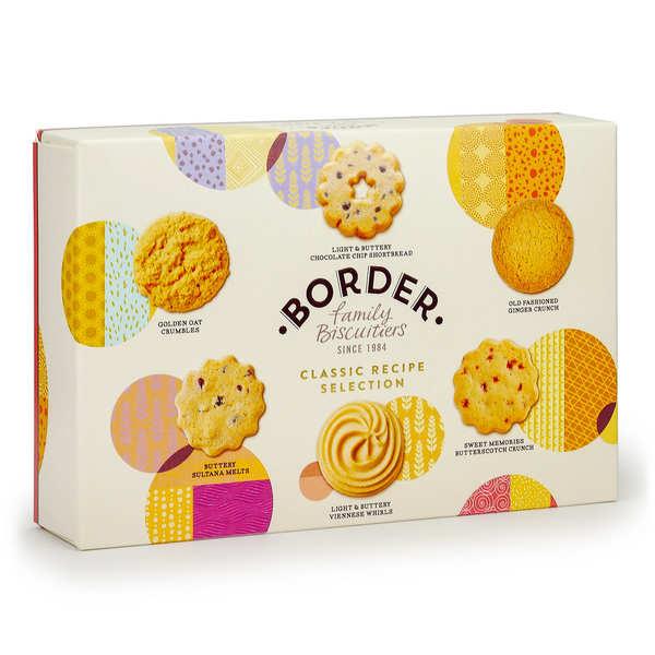 Grande boite de biscuits écossais assortis Border