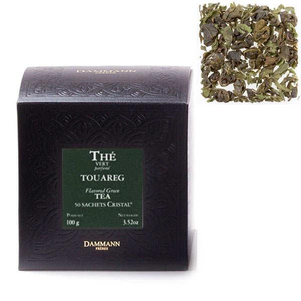 "Touareg Mint Green Tea in ""Cristal"" sachets by Dammann Frères"