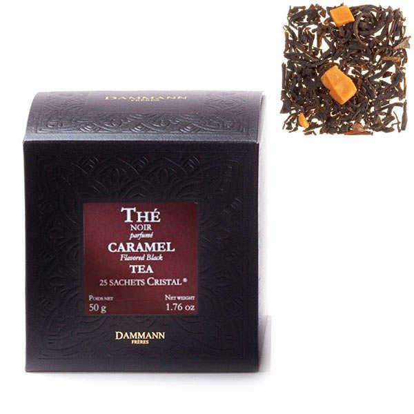 Thé noir au caramel en sachets cristal - Dammann Frères