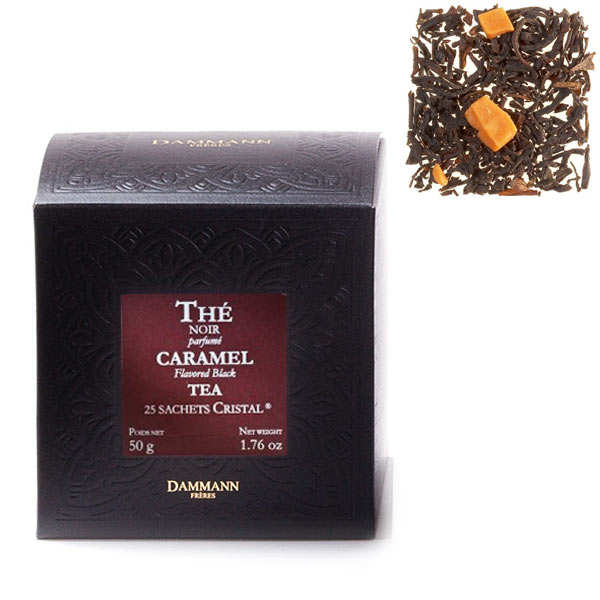"""Toffee tea in """"Cristal"""" sachets by Dammann Frères"""