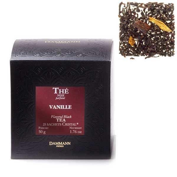 Thé noir à la vanille en sachets cristal - Dammann Frères