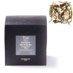 """Dammann frères - White tea """"Passion des fleurs"""" in """"Cristal"""" sachets by Dammann Frères"""