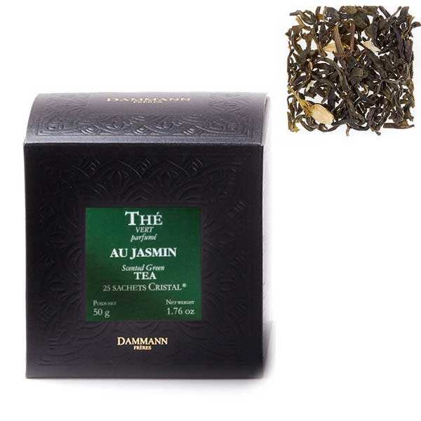 "Jasmine green tea in ""Cristal"" sachets by Dammann Frères"