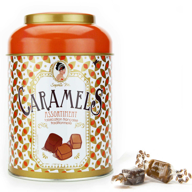 Assortiment de caramels - Boite en métal