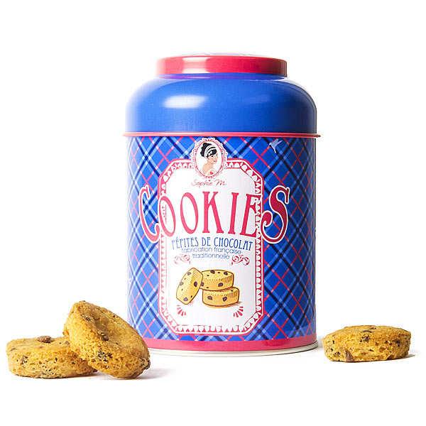 Assortiment de cookies aux pépites de chocolat - Boite en métal