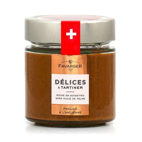 Favarger - Pâte à tartiner Praliné Suisse à l'ancienne - Amandes et noisettes