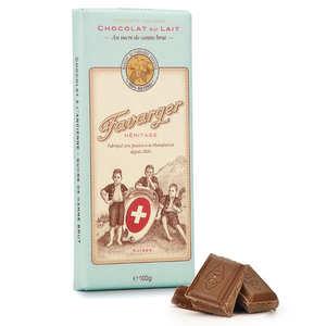 Favarger - Tablette de chocolat suisse au lait à l'ancienne
