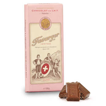 Favarger - Milk Chocolate & Hazelnuts Bar - Favarger