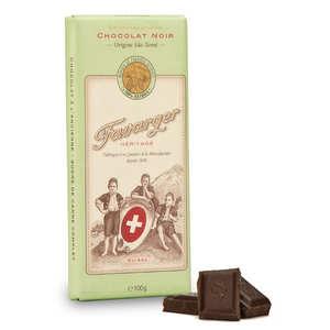 Favarger - Tablette de chocolat suisse noir