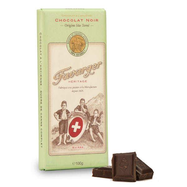 Tablette de chocolat suisse noir