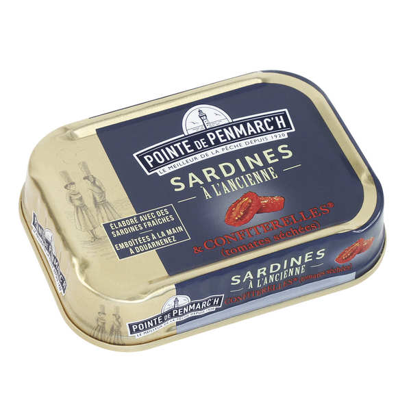 Traditional sardines with tomato caviar