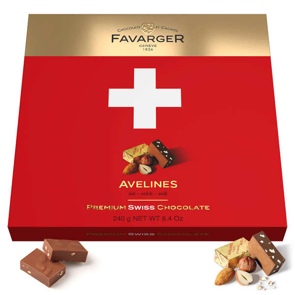 Swiss Praline Avelines Swiss Cross Box by Favarger