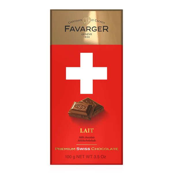 Tablette de chocolat suisse au lait